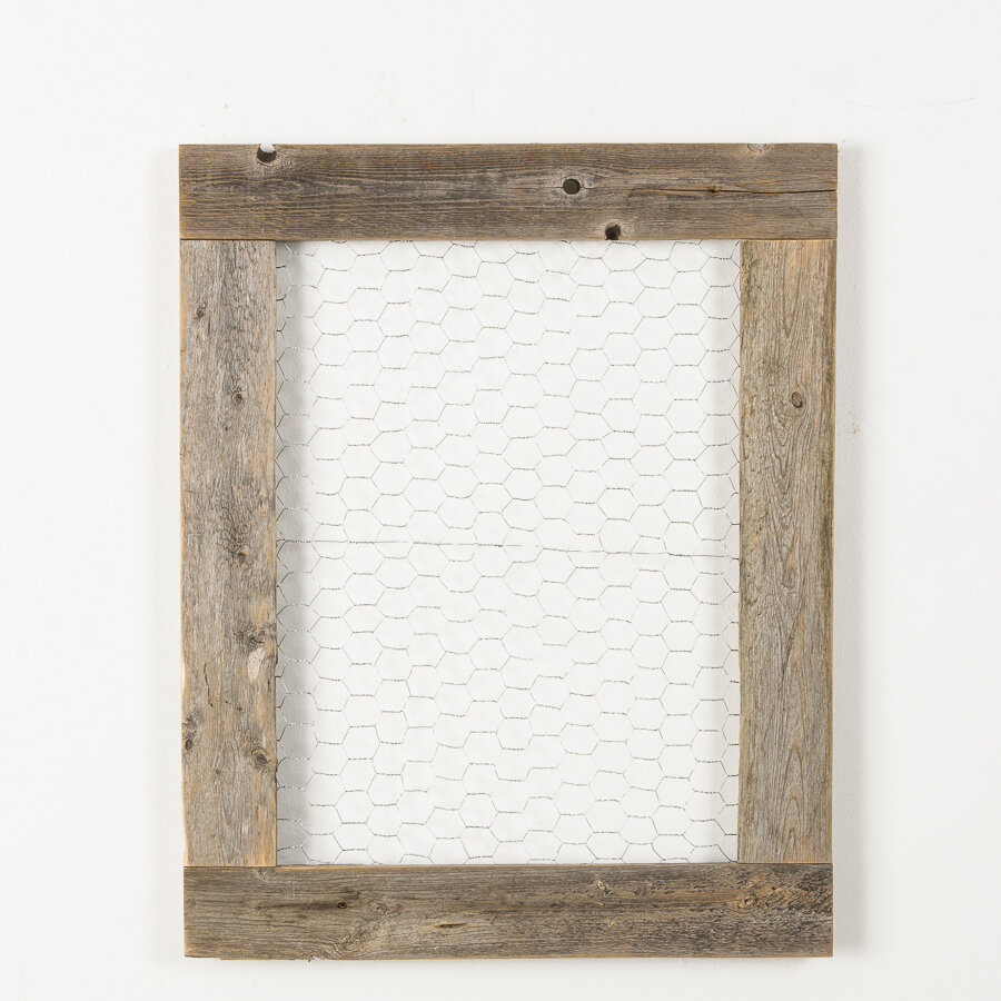 Foundry Select Brittin Barnwood Chicken Wire Photo Display Picture ...