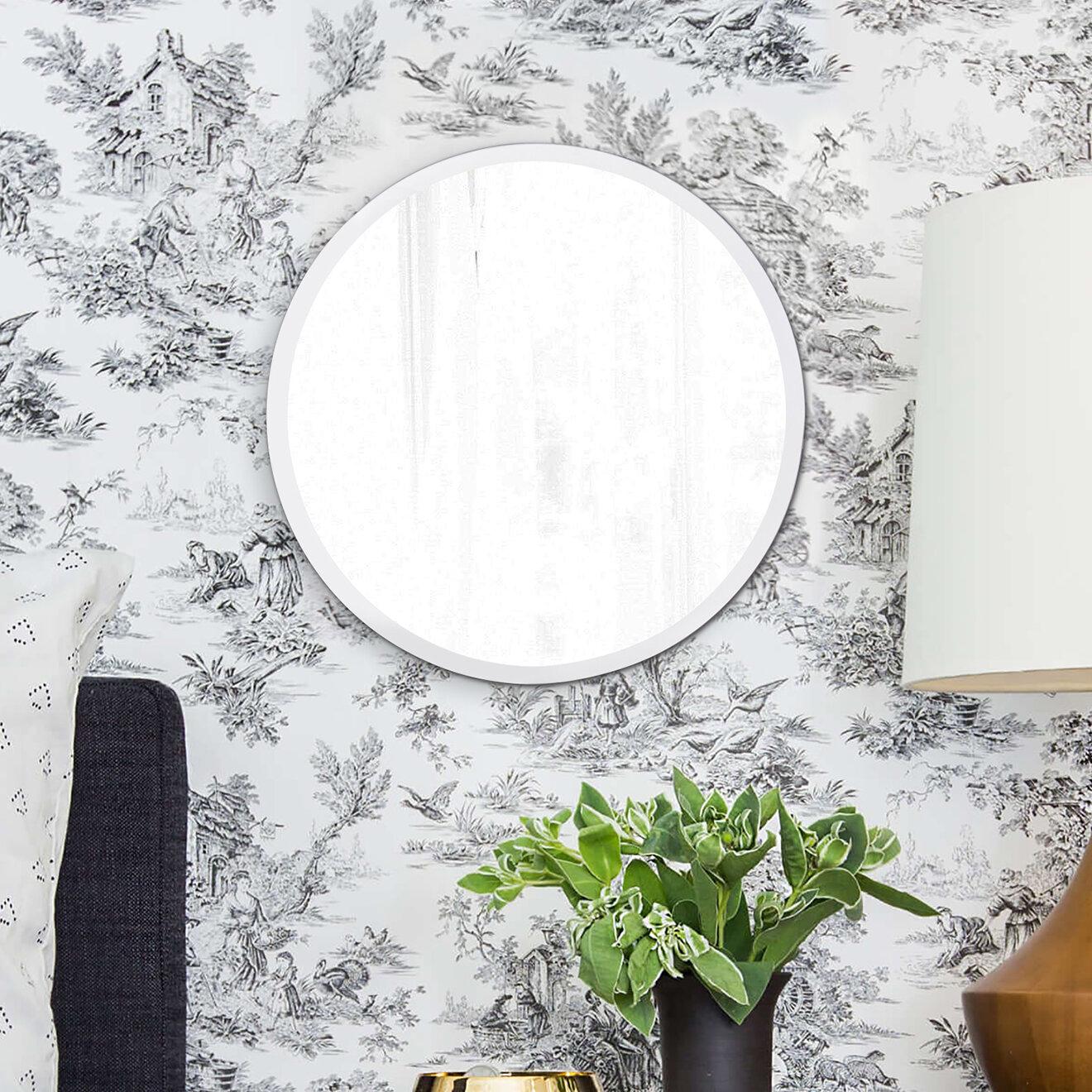 Orren Ellis Corriveau Frameless Round Wall Mirror Reviews Wayfair