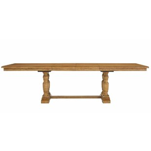 Drummer Baluster Wood Extendable Dining Table