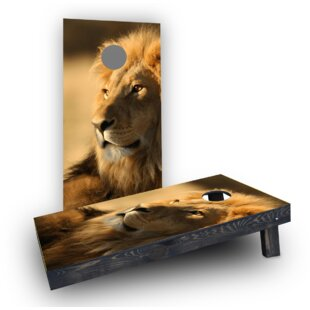 Custom Cornhole Boards Laying Lion Cornhole Boards (Set of 2)