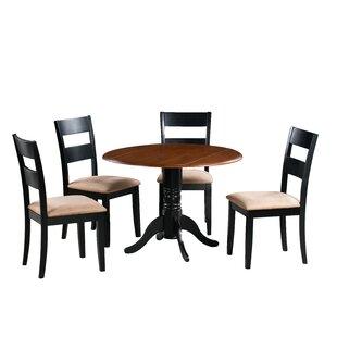 Adne 5 Piece Drop Leaf Solid Wood Dining Set