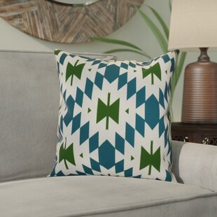 Reviews Soluri Geometric Outdoor Throw Pillow By Bungalow Rose
