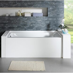 Best Reviews Delano 59.8 x 32 Alcove Soaking Bathtub By Pacific Collection