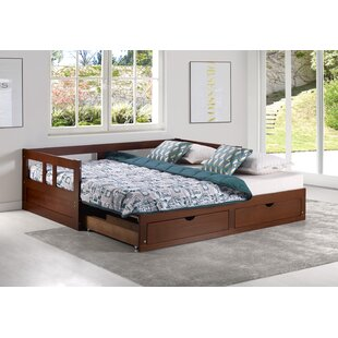 Bechtold Twin Twin Daybed with King Trundle by Harriet Bee