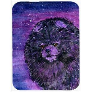 Starry Night Pomeranian Glass Cutting Board ByCaroline's Treasures