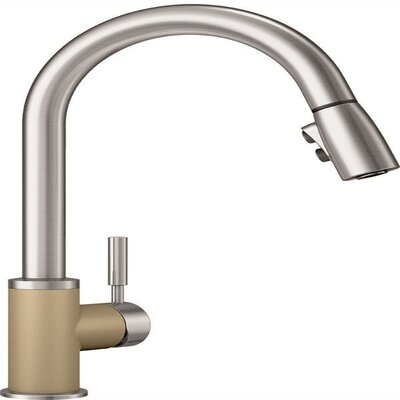 Sonoma Pull Down Single Handle Kitchen Faucet Blanco Flow