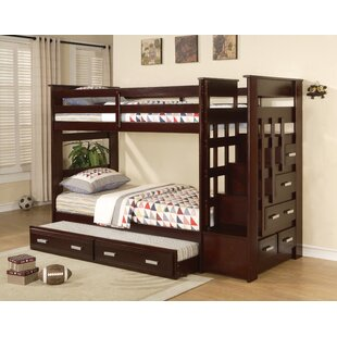 Zoya Twin over Twin Bunk Bed with Trundle and Drawers