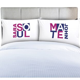 Personalized Couples Soul Mate Pillow Cases by Monogramonline Inc. Great Reviews