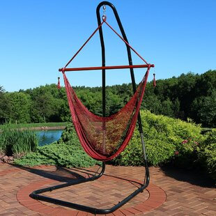 Amber Rope Chair Hammock with Stand