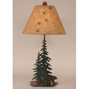 Rustic Living Iron Pine Tress 33 Table Lamp