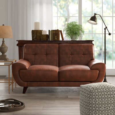 Groovy Sterns Craft Leather Loveseat Brayden Studio Upholstery Brown Gmtry Best Dining Table And Chair Ideas Images Gmtryco
