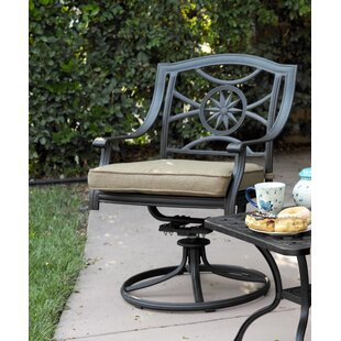 Lenzburg Swivel Patio Rocking Chair with Cushions (Set of 4) by Alcott Hill