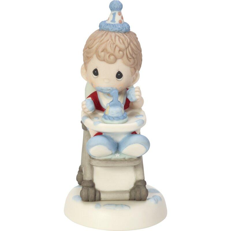 Precious Moments Baby Boy 1st Birthday Smash Cake Figurine
