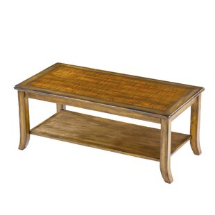 Merlin Wood Top Coffee Table by Millwood Pines