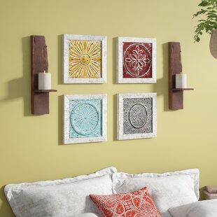 4 Piece Accent Tile Wall Décor Set