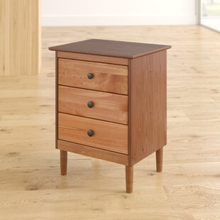 Labriola Solid Wood 3 Drawer Nightstand by Mercury Row