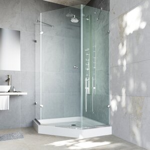 Frameless Neo Angle Shower Enclosure With .375
