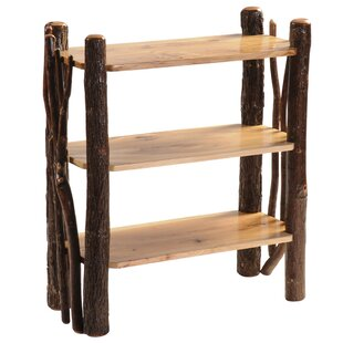 Hickory Open Etagere Bookcase