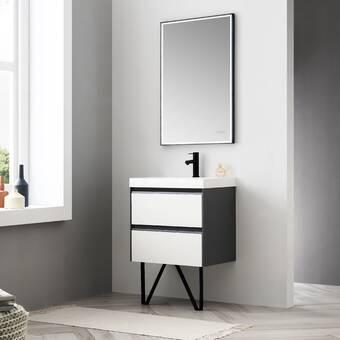 Ebern Designs Jez Waterproof Ergonomic Design 24 Single Bathroom Vanity Wayfair