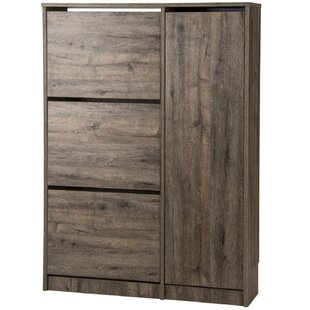 Burrell 18 Pair Shoe Storage Cabinet By Mercury Row