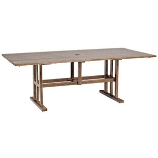 Woodlands Rectangular Aluminum Umbrella Table