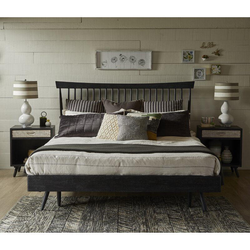 gracie oaks hehir king platform configurable bedroom set