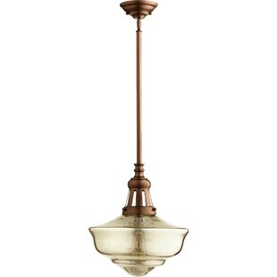 Boxelder 1-Light Schoolhouse Pendant by Winston Porter