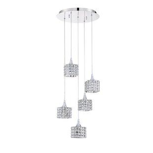 Shimera 5-Light Pendant by Kendal Lighting