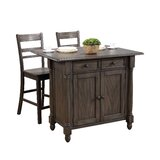 Gorman Drop Leaf Kitchen Island Set by Rosalind Wheeler