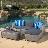 Furst 5 Piece Sectional Seating Group with Cushions byWade Logan