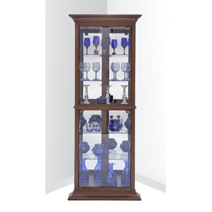 Gladstone Lighted Corner Curio Cabinet by Darby Home Co