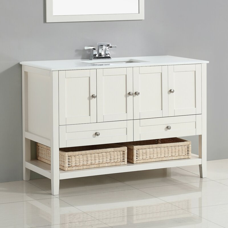 Cape Cod 49  Single Bathroom Vanity Set Simpli Home Reviews
