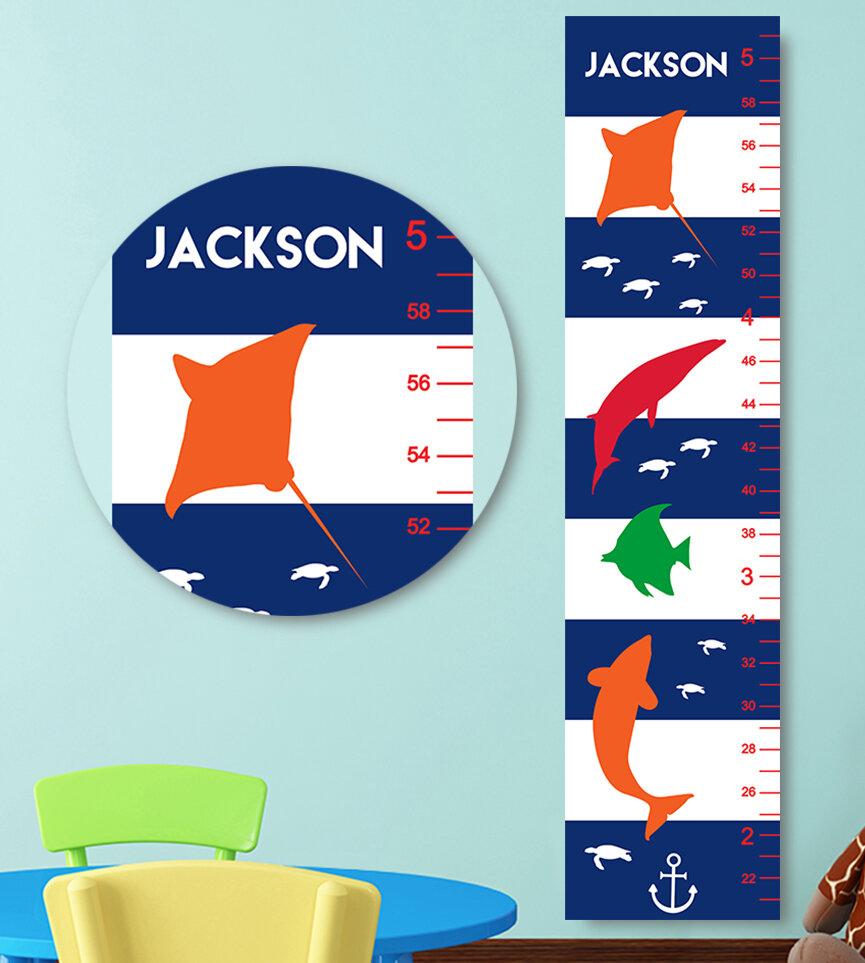 Jolie Prints Nautical Personalized Growth Chart Wayfair