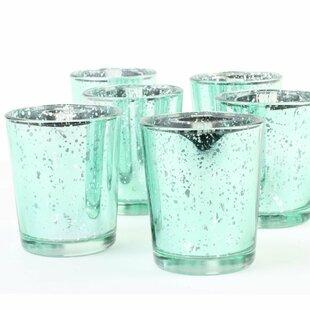 6 Piece Glass Votive Holder Set (Set of 6)