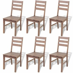 Millwood Pines Keon Solid Wood Dining Chair (Set of 6)
