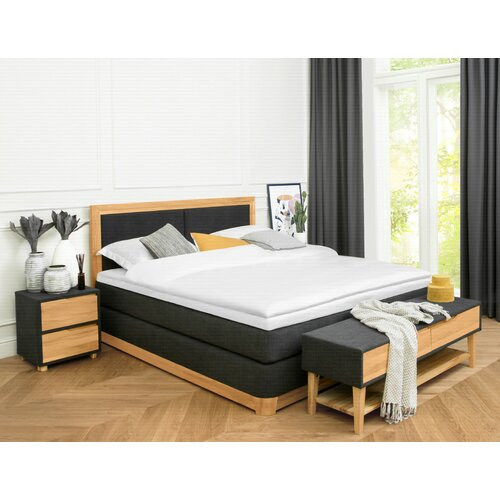 Boxspringbett Malik mit Topper ModernMoments | Schlafzimmer > Betten > Boxspringbetten | ModernMoments