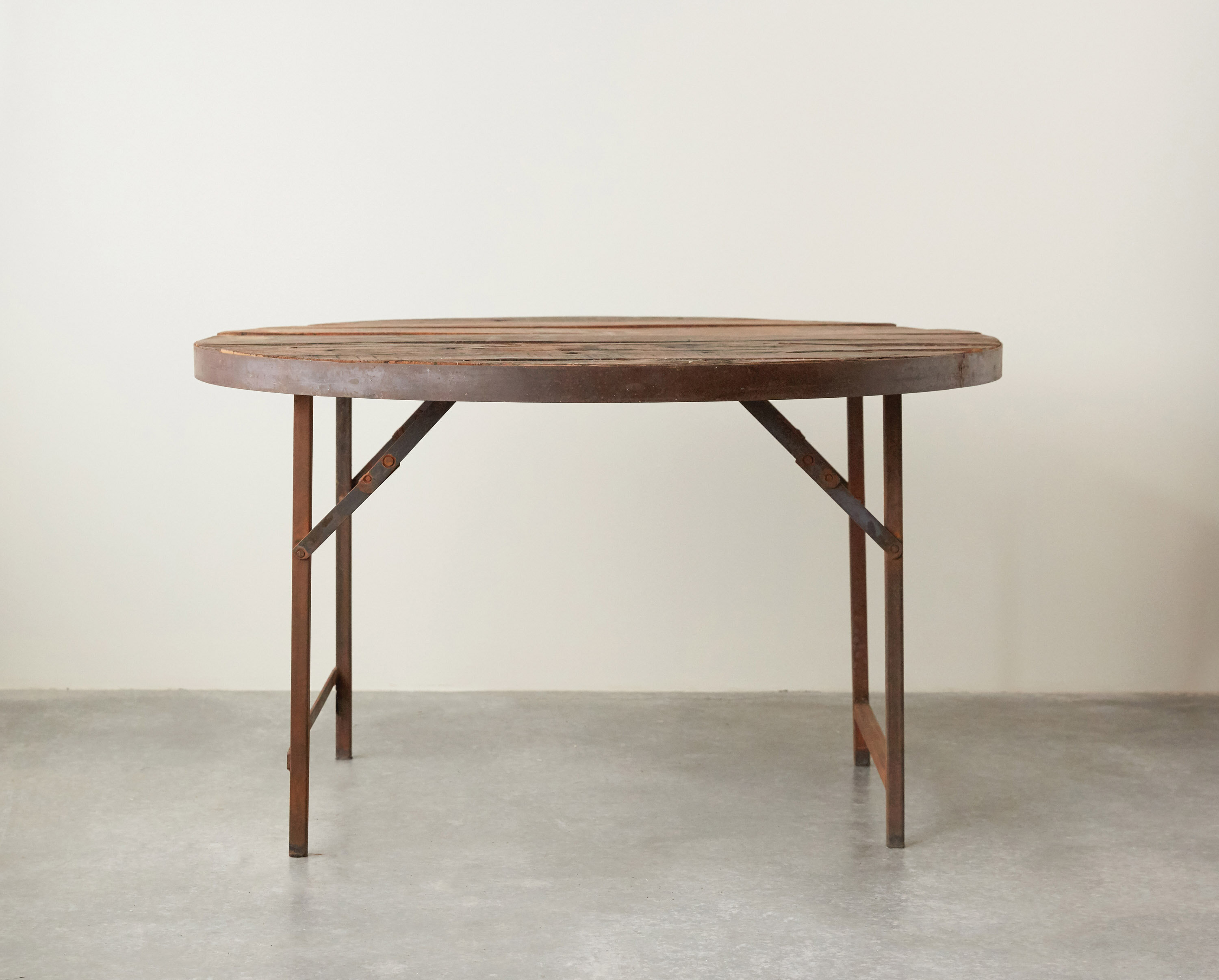 - Creative Co-Op Found Round Wood & Metal Folding Tent Dining Table