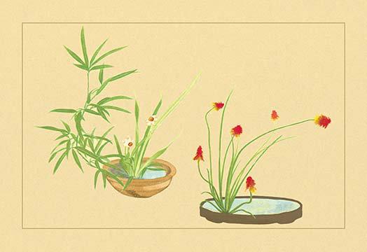 Buyenlarge Bamboo Narcissus And Lily By Sofu Teshigawara Painting Print Wayfair
