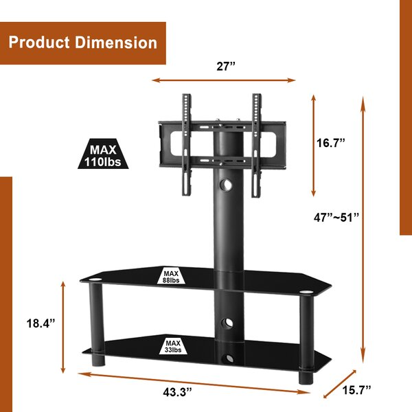 Liveditor Metal Frame Floor Stand Mount For Great Than 50 Screens Wayfair