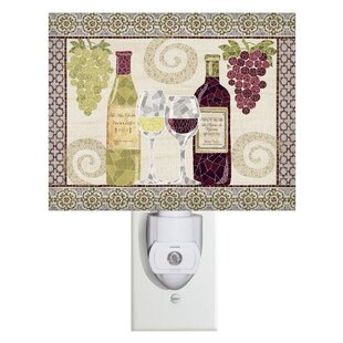 Evergreen Enterprises, Inc Wine Mosaic Canvas Night Light