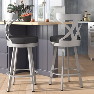 Leechburg 30 Swivel Bar Stool Wade Logan