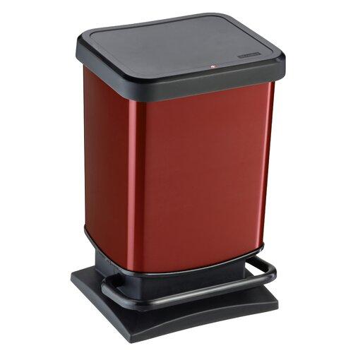 20 L Mülleimer Paso | Küche und Esszimmer > Küchen-Zubehör | Metallic rot | Rotho