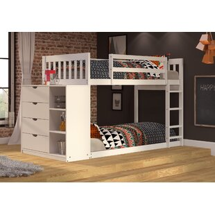 Ewart Mission Twin over Twin Bunk Bed with Chest and Storage