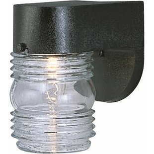 Jelly Jar 1-Light Outdoor Sconce by Monument