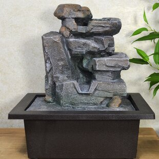 Duncan Resin Water Fountain With Light By Sol 72 Outdoor