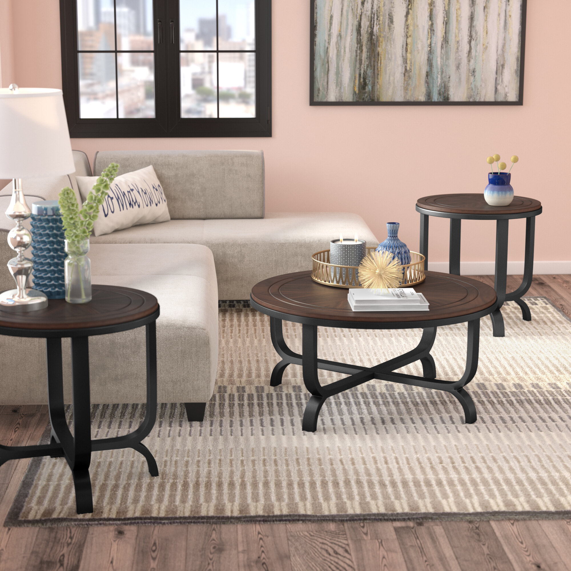 Genial Gracie Oaks Babcock 3 Piece Coffee Table Set U0026 Reviews | Wayfair