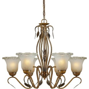 Fleur De Lis Living Bourges 6-Light Shaded Chandelier