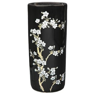 Oriental Furniture Flower Blossom Umbrella Stand