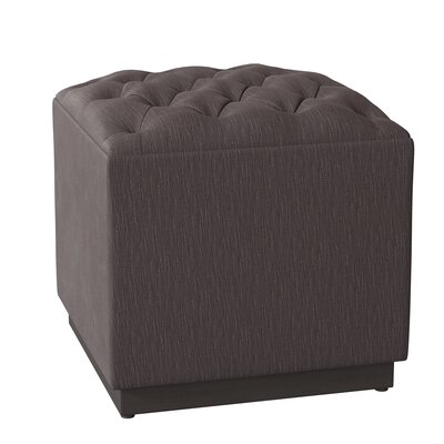 Tenorio Cube Ottoman Body Fabric: Encore Moon Dust, Leg Color: Espresso