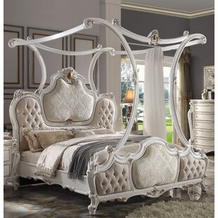 Croll Tufted Low Profile Canopy Bed